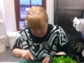 Margaret working in Bernie's Kitchen Carrickmacross Co. Monaghan
