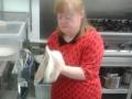 Margaret working in the kitchen in Bernie's Kitchen in Carrickmacross Co. Monaghan