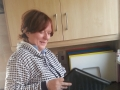 Patricia Keogh working in cootehill Community Childcare kitchen